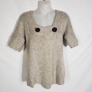 Dolce Cabo Cardigan Sweater Wool Blend Short Sleev